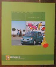 Renault Modus Gama Orig 2004 Reino Unido MKT prestigio folleto de ventas