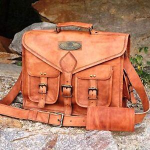 First Choice Leather Vintage Shoulder Handbag Brown Crossbody Messenger Satchel