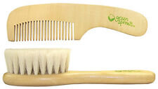 Green Sprouts Natural Bristles Wooden Baby Brush & Wood Comb Set - 157596