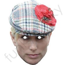 Zara Phillips With A Hat Royal Celebrity Card Mask. All Our Masks Are Pre-Cut!