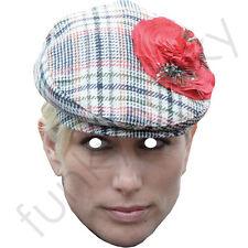 Zara phillips avec un chapeau royal célébrité carte masque. tous nos masques sont pré-coupé!