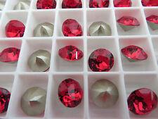 6 Light Siam Foiled Swarovski Crystal Chaton Stone 1088 39ss 8mm