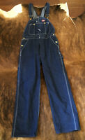 Dickies Mens Carpenter Bib Overalls Coverall Work Jean Blue Denim Cotton 32x30