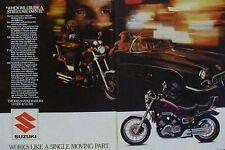 1985 SUZUKI MADURA GZ1200 & GV700 2 Page Motorcycle Ad 1200 700