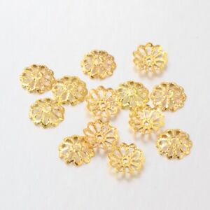 Gold Plated Bead Caps 9mm x 300 Jewellery Making Findings Craft UK