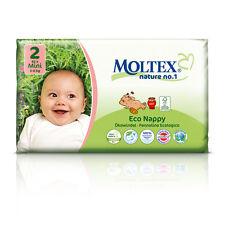 Paquete de 3er 126 St. Moltex nature no1, oso ecológica pañales de bebé mini talla 2 (3-6 kg) 3 x 42