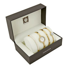 Anne Klein Mother of Pearl Dial Gold-tone Bangle Ladies Watch 2240GBST