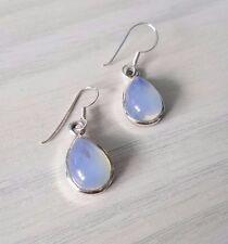 925 Sterling silver FIRE OPAL earrings