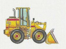 *NEW* Front End Loader Machine HP Needlepoint Canvas by 2 Bananas from P. Pony