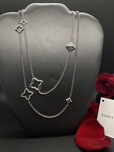 DAVID YURMAN Sterling Silver Quatrefoil Chain Necklace