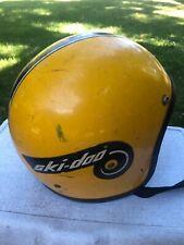 Vintage Yellow Ski-Doo Snowmobile Helmet.