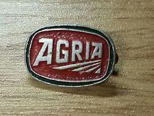 Agria Brooch Varnished GREEN EDGE 16x11mm stamped Mayer - Old + ORIGINAL