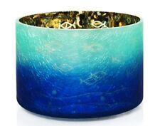Seaside Silhouette Crackle Glass Barrel Jar Shade Yankee Candle NEW blue ocean