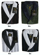 Mens Jacquard Velour Egyptian Cotton Bath Robe 4 Colors