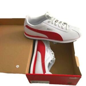Puma Turin Sneakers Mens Size US 14, White & Barbados Cherry