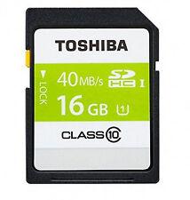SDHC de memoria Toshiba para cámaras de vídeo y fotográficas para 16 GB