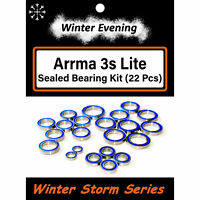 Arrma 3s BLX LITE Big Rock Granite Senton Typhon (22 Pc Rubber Seal Bearing Kit)