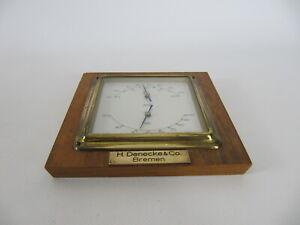 60er Jahre Wetterstation Scholz Barometer Thermometer