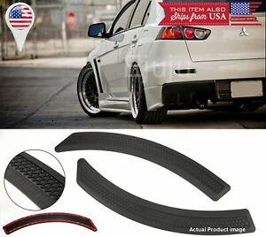 Black Carbon Effect Evo 10 side Grill Fender Flare Vent Cover For Honda Acura