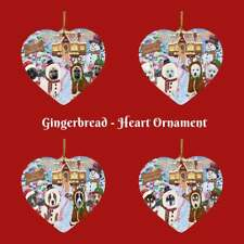 Gingerbread Cookie Shop Dog Cat Pet Photo Heart Christmas Tree Ornament