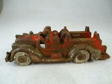 """Antique Cast Iron Arcade Miniature Fire Engine Toy Truck Car Vintage 1920s 6.5""""L"""