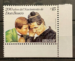URUGUAY - 200 YEARS SINCE THE BIRTH OF DON BOSCO - MNH STAMP