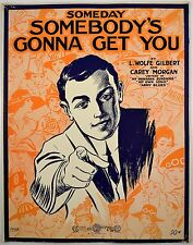 Someday Somebody's Gonna Get You 1917 Starmer Art Uncle Sam WWI sheet music