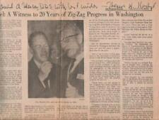 Thomas Kuchel Autographed TLS & Newspaper Article California Politician / Whip