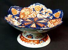 D 1850 grande coupe présentoir porcelaine Imari art Japon ancien 28cm1.5Kg chic