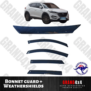 Bonnet Protector Guard + Window Visors to suit Hyundai Tucson 2015 - current