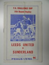 New listing LEEDS UNITED v SUNDERLAND | 1966/1967 | FA CUP R5 REPLAY | 15 MAR 1967 | PIRATE