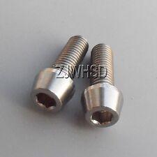 2pcs M7x20 Titanium Ti Screw Bolt Allen hex Taper Socket Cap head/AerospaceGrade