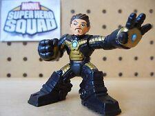 Marvel Super Hero Squad RARE IRON MAN Black & Gold Armor with Helmet Off