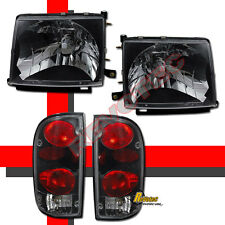 Black Headlights & Tail Lights For 97 98 99 00 Toyota Tacoma 2WD 98-00 4WD