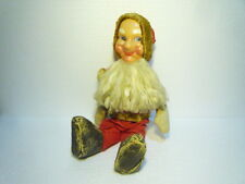 ANTIQUE  BIG  SANTA  CLAUS  DOLL  FIGURE  CLOTH  STRAW  HANDMADE  EX RARE