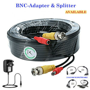 BNC DC Power Lead CCTV Security Camera DVR Video Camera Extension Cable 5M -50M