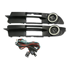 For BMW E60 03-07 Front Bumper Fog Light Cover Grille + Angel eyes Lamp NEW