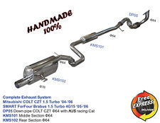 Exhaust System with downpipe Mitsubishi Colt CZT CZC Ralliart Turbo - Smart For4
