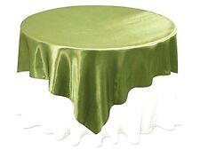 "Tablecloth Overlay NEW Willow Green Satin 60""x60"" Wedding Banquet"