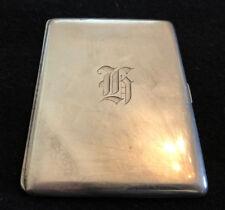 European Antique Sterling Silver Cigarette Case