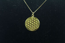 14K Gold Flower of Life Necklace,Gold Pendant & Chain, Authentic Sacred Geometry