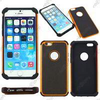 """Coque Housse Etui Rigide Silicone Armor Anti Choc Orange Apple iPhone 6S 4,7"""""""