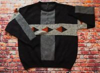 Vintage FIUME 80s/90s Hairy Knit Wool Mix Cosby Funky Sweater Jumper Pullover XL