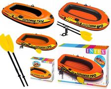 Intex Inflatable 1 or 2 Person Explorer Pro Dingy Rubber Boat Air Pump Paddles
