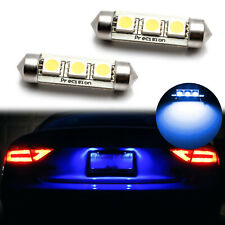 Ice Blue Error Free 6418 C5W 3-SMD LED License Plate Lights Bulbs For Euro Car