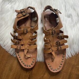 Pedro Garcia Women's Size 40 / US 10 Brown Leather Galatea Gladiator Sandals