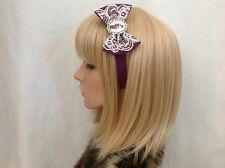 Violet Baudelaire headband hair bow rockabilly a series of unfortunate events