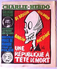 """Charlie Hebdo N°468 du 7/11/1979; """"Les pauvres sont ds cons"""" Coluche & Lanvin"""