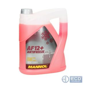 Mannol Antifreeze AF12+ bis -40°C Kühlerfrostschutz Kühlmittel 5L rot
