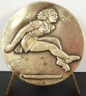 Médaille Sport Saut en longueur sc Drago c 1950 Long jump Medal